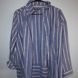 Riders- Lee Striped Chambray Shirt